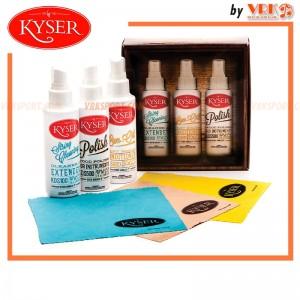 Kyser น้ำยาดูแลกีตาร์ แบบชุด 3 ขวดพร้อมผ้า - Kyser Complete Care Kit for Guitar