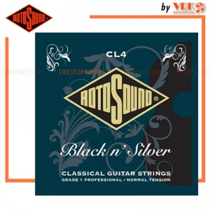 Rotosound สายกีตาร์คลาสสิค รุ่น CL4 - BLACK AND SILVER CLASSICAL SET