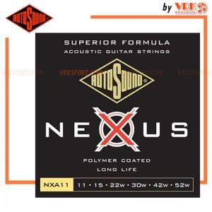 Rotosound สายกีตาร์โปร่ง รุ่น NXA11  -  NEXUS ACOUSTIC COATED LIGHT | 11-52
