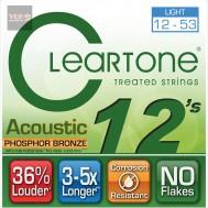 สายกีตาร์ CLEARTONE โปร่ง ฟอสฟอร 12-53