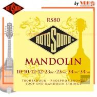 Rotosound สายบันโจ รุ่น RS80 - TROUBADOUR MANDOLIN PHOSPHOR BRONZE SET