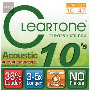 สายกีตาร์ CLEARTONE โปร่ง ฟอสฟอร 10-47