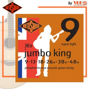 Rotosound สายกีตาร์โปร่ง รุ่น JK9 - JUMBO KING ACOUSTIC SUPER LIGHT | 9-48