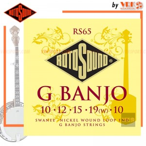Rotosound สายบันโจ รุ่น RS65 - SWANEE 5-STRING G BANJO NICKEL SET