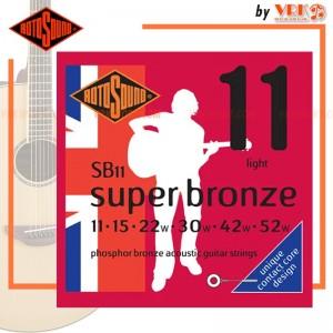 Rotosound สายกีตาร์โปร่ง รุ่น SB11  - SUPER BRONZE ACOUSTIC LIGHT | 11-52